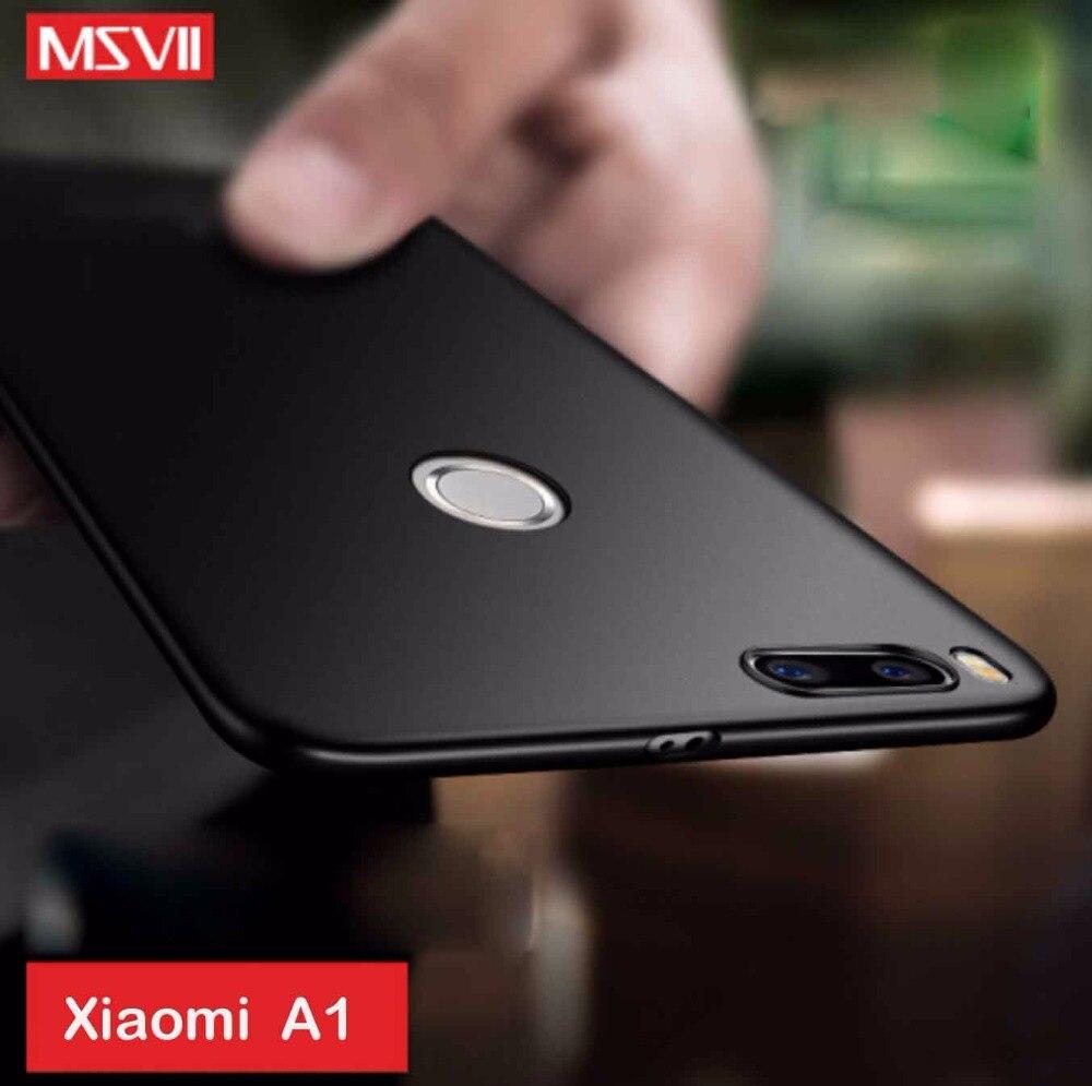 Actualizado 100% funda original de lujo msvii simple y scrub 4 niveles pintura al óleo para Xiaomi mi A1 para Xiaomi mi 5X mejor mate