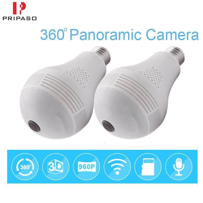 Cámara panorámica Wifi 960P 360, 1,3 MP, 360, Bombilla, Wifi, CCTV, para...
