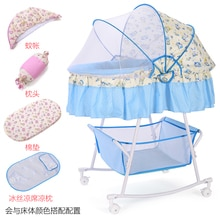 Multi-funktion Baby Wiege Neugeborenen Bett Shaker Bett mit Moskito Net Komfort Bett mit Roller Schlaf Korb