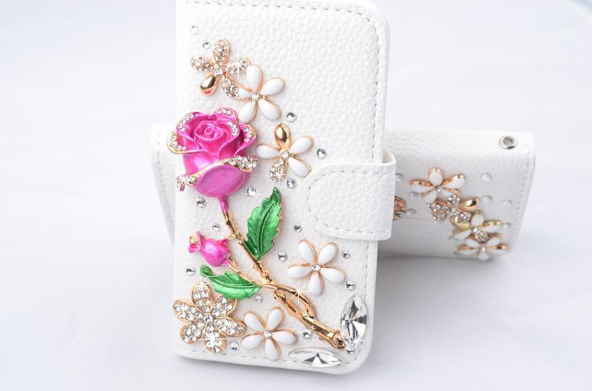 Cartera de cuero con diamantes de imitación de cristal ostentoso, cartera con tapa para tarjetas, funda con soporte para Samsung s10 s9 s8 plus s7edge Note10 Note8 9