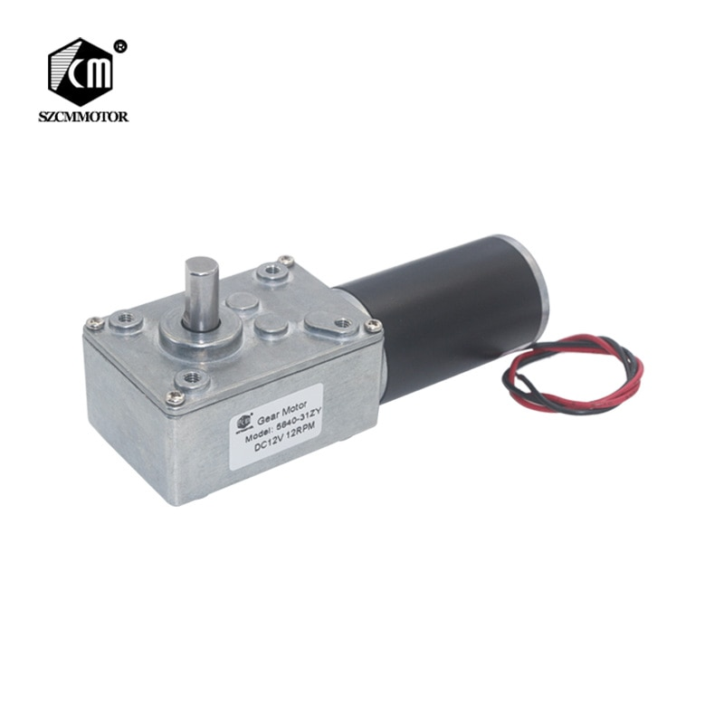5840-31zy DC12V 24V Powerful Torque Turbo Worm Geared Motor Type-D Shaft High Power Reversed Low Speed Big Worm Gear Motor