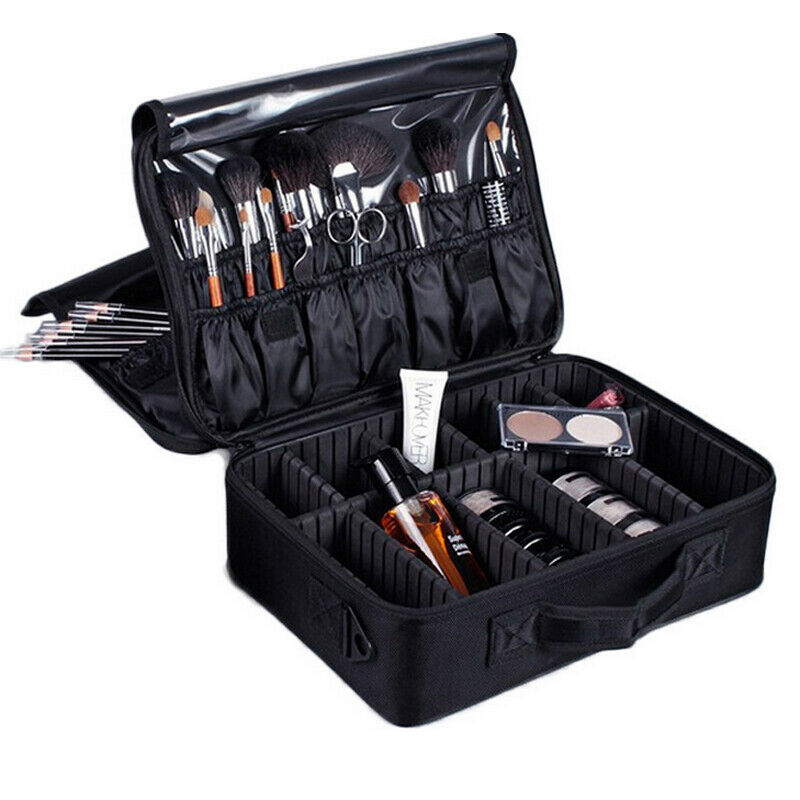 Multifunctional cosmetic bag professional cosmetics large capacity storage box travel portable makeup bag