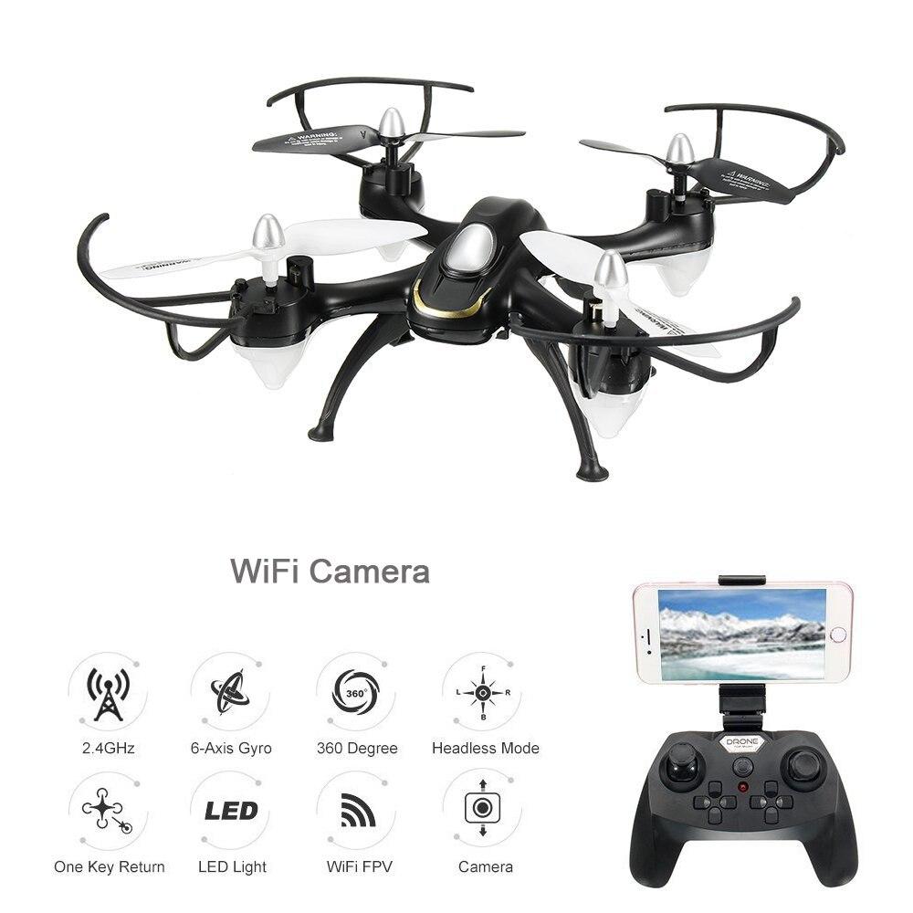 EBOYU (TM) 668-A9W WiFi FPV Quadcopter Drone con Wifi de la Cámara de HD sin cabeza modo regreso con una sola tecla RC Quadcopter Drone RTF Modo 2