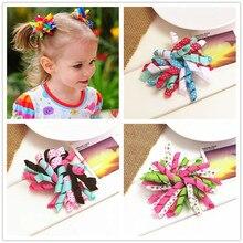Handmade wstążka kwiaty łuk dziewczynek spinka do włosów dla dzieci pin rolls nakrycie głowy z kokardką szpilki do włosów do ozdoby do włosów spinka do włosów