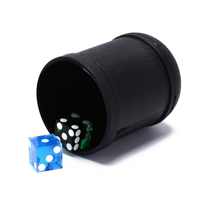 1 ud. Taza de dados 7,5 Cm X 10Cm Material plástico juguete negro taza de dados de plástico taza para agitar