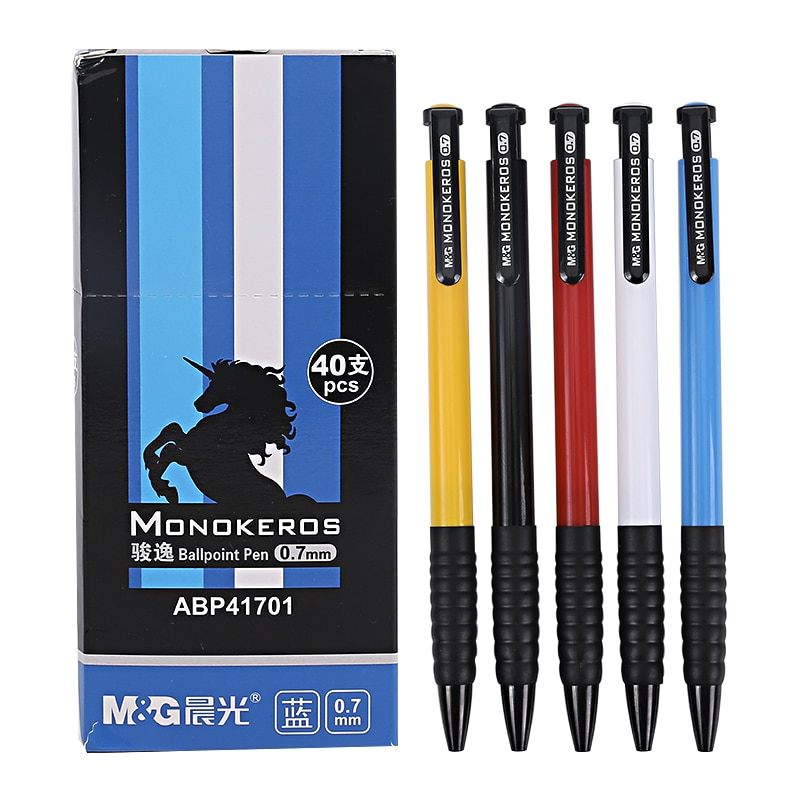 Шариковая ручка для офиса, 40 шт./корм и г, креативная разноцветная Высококачественная Шариковая Ручка 0,7 мм для стационарных офисных и школь...