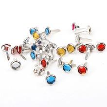Mini fils en diamant multicolores mélangés   Couleurs variées, 15x8.5mm, scrapbooking/cadeau/papier, embellissements décoratifs, cp1115