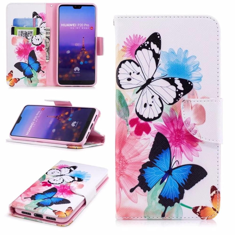 Funda de cuero para Huawei P20 Lite P20 Pro con tapa de la ranura de la tarjeta magnética para Samsung S9 S8 A520 A8 2018 iphone X 8 7