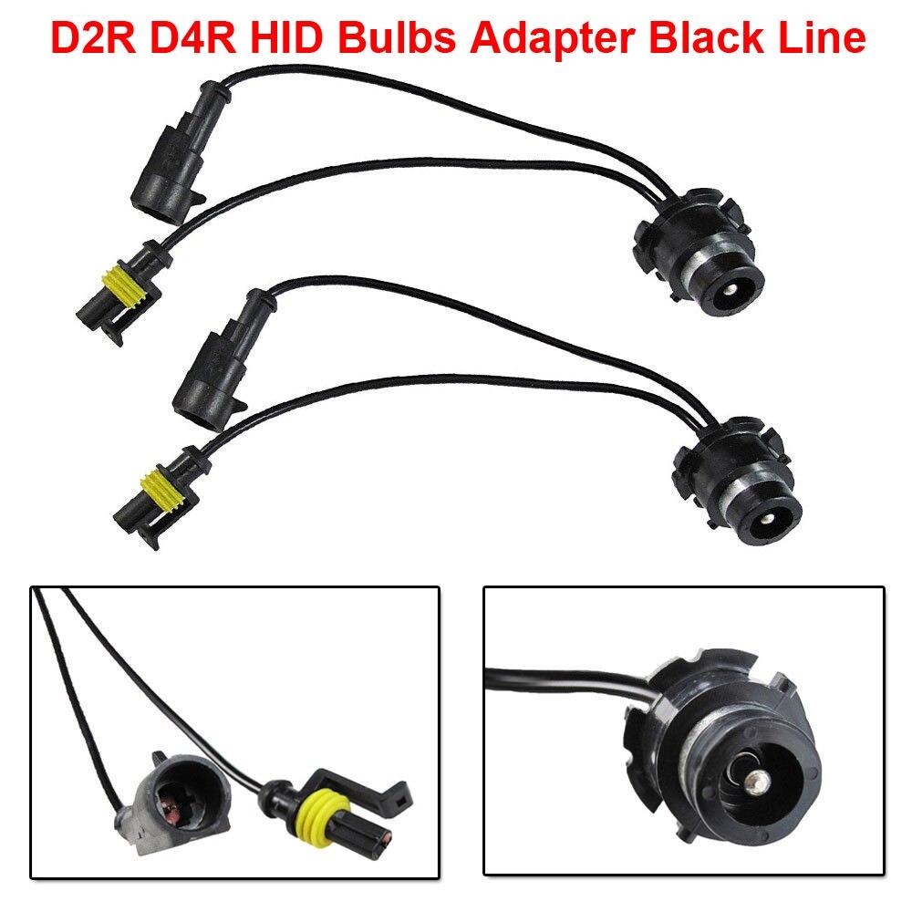 2 uds D2 D2R D4 D4R OEM HID Xenon faro bombillas balastos Cable negro línea arnés Cable adaptador toma de cableado Plug N Play