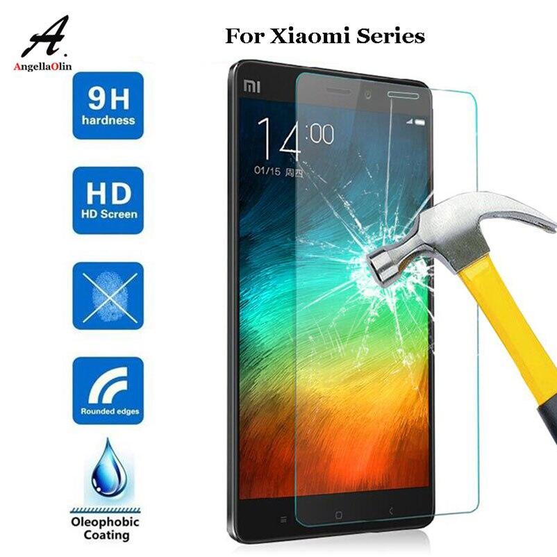 TOP 9H Protector de pantalla de vidrio templado película para Xiaomi Redmi Mi 8 Max Mix2 4X 4A A1 5A Mezclar 1, 2, 3, 4, 5, 6 Mi5 Mi6 Plus Nota 5 caso