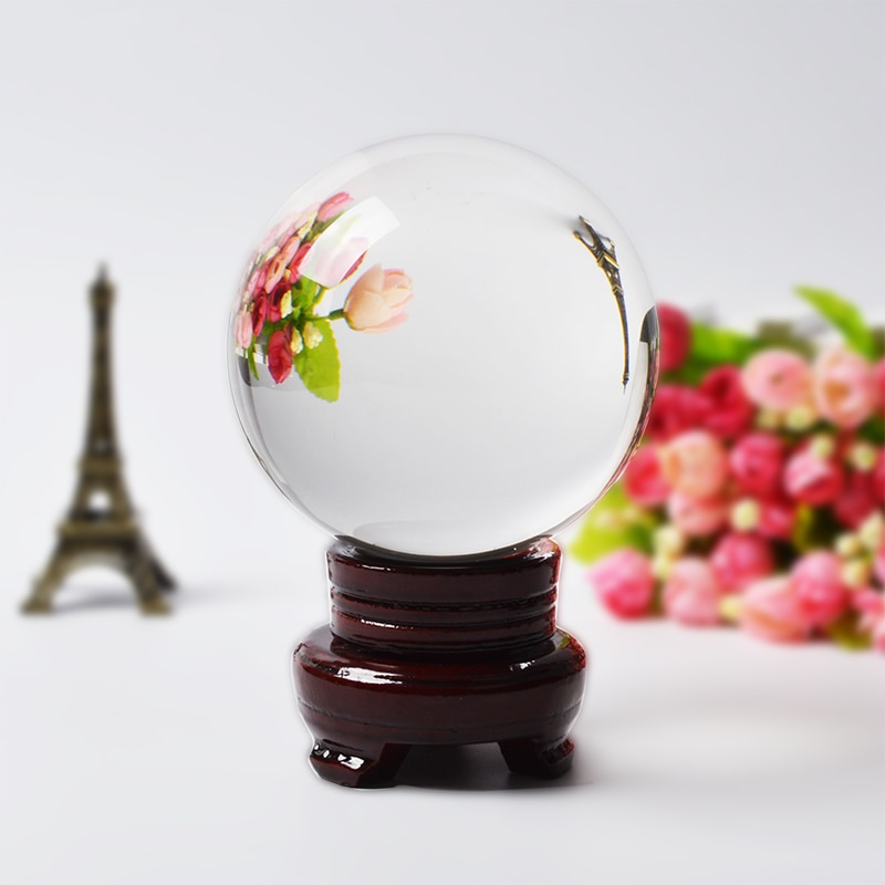 Bola de cristal Artificial para fotografía, bola de decoración de Feng Shui,...