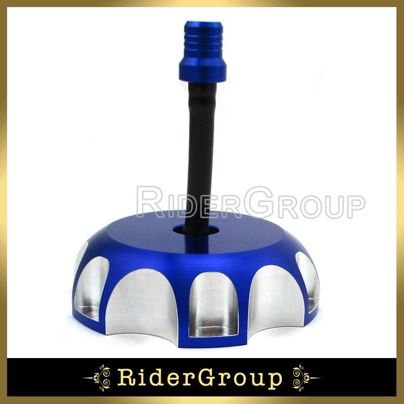 Tapa de tapa de tanque de gasolina azul para motocicleta para Yamaha WR 250F 450F YZ 85 125, moto de cross, Motocross