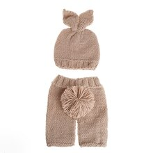 2018 Newborn Baby Girl Boy Rabbit Crochet Knit Costume Prop Outfits Photo Photography  JUL16_17