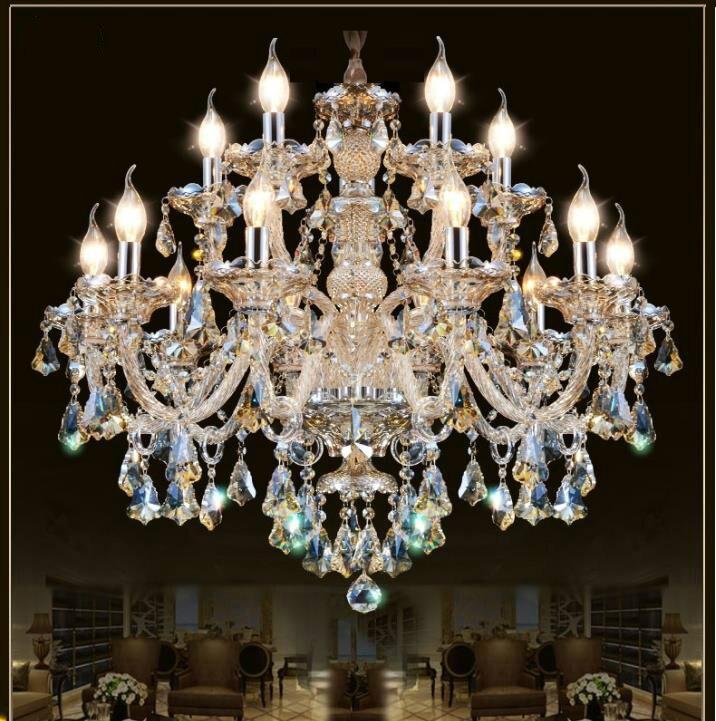 Candelabro de cristal moderno, lustres para sala de estar, decoración de cristal, colgantes Multicolo y candelabros, iluminación para el hogar, lámpara de interior