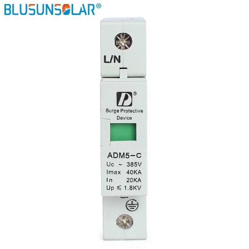 5 pieces 1P 20KA to 40KA 110V 220V 380V AC Din Rail SPD Lightning Protection Device Voltage Surge Protector