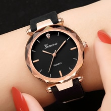 Luxury Brand Geneva Watch Womens Watches Silica Analog Quartz Dress Ladies Wrist Watch Men's Waterpr