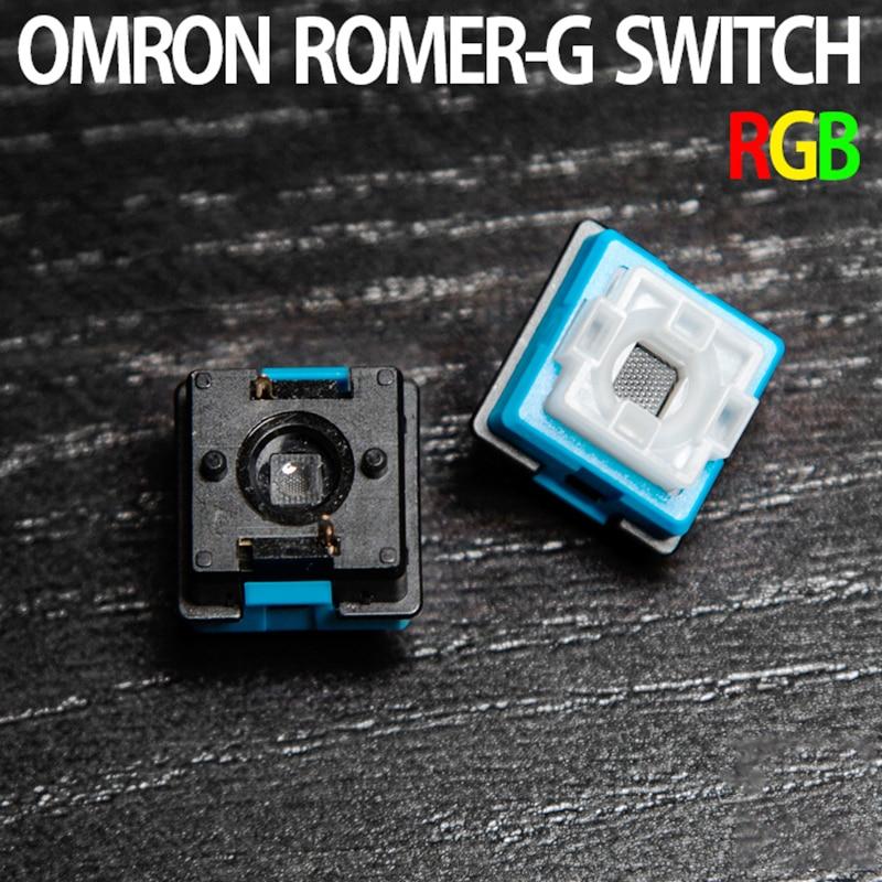 Оригинальный Romer-G Переключатель Omron B3K для Logitech G310 G810 G910 G413 Pro механическая клавиатура синий черный осевой переключатель корпуса