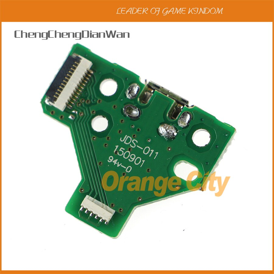 Chengdianwan-لوحة مثلثة لوحدة تحكم Playstation 4 PS4 ، منفذ شحن USB 12 دبوس ، 100 قطعة