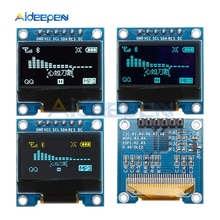 0.96 Inch 6Pin OLED Display Module 128 x 64 SSD1306 Driver IC IIC I2C SPI Interface 3.3-6V Screen Board For Arduino Raspberry Pi