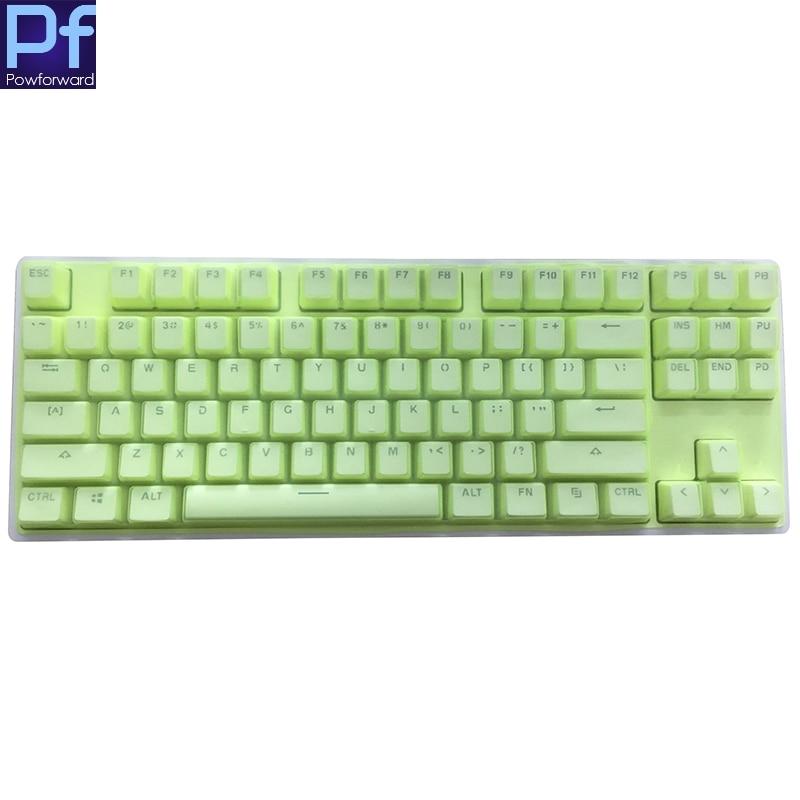 [해외] 유에미-MK01 87 키 데스크탑 PC 키보드 커버 실리콘 방진 클리어 키보드 커버 보호기 스킨, 키보드용