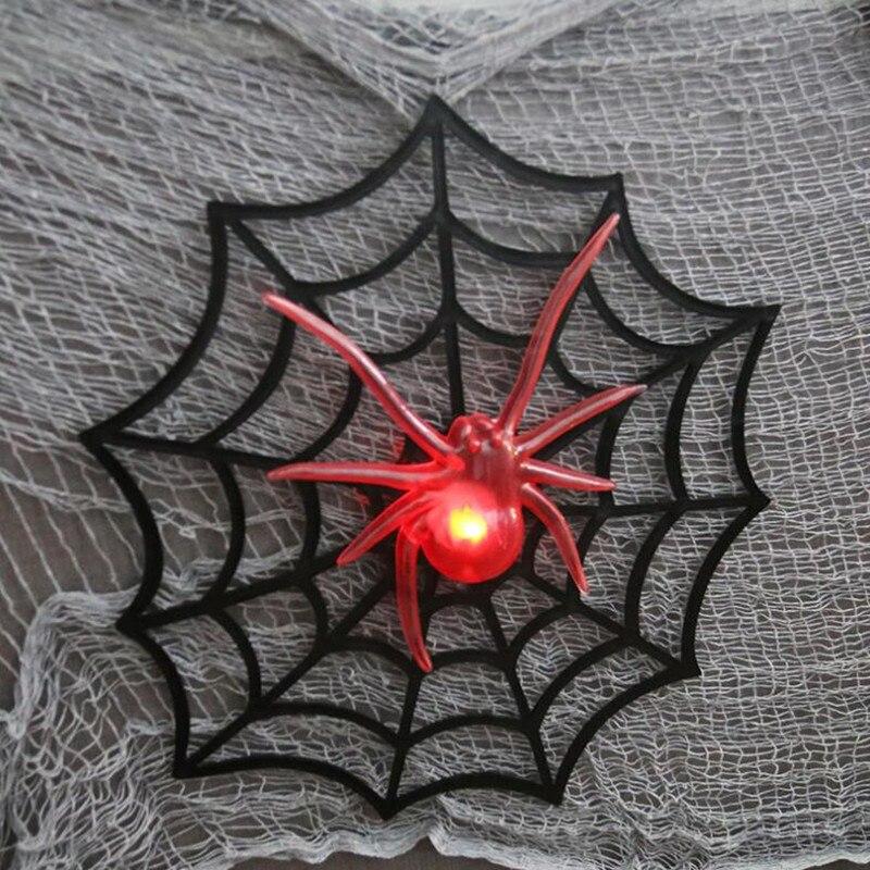 Barra de telaraña brillante LED KTV casa embrujada decoración decorada Props niños Juguetes Decoración fiesta Halloween