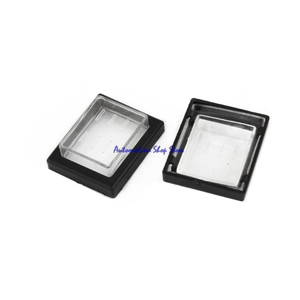 Защитные колпачки KCD4, прозрачные, черные, прямоугольные, 5 шт.