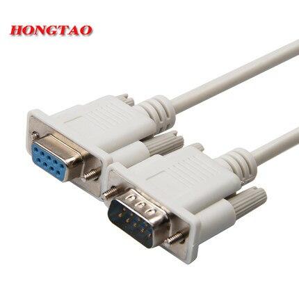DB9 macho a hembra SERIAL DB9 RS232 Cable de datos de 9 pines Cable SERIAL PC convertidor extensión conector 1,5 m 3m 5m 10m nuevo