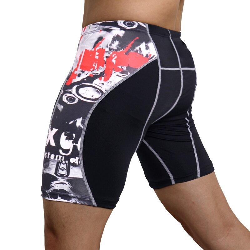 Mallas de compresión para hombres pantalones cortos elásticos para correr de secado rápido pantalones cortos de compresión para gimnasios 2019 nuevos Pantalones deportivos
