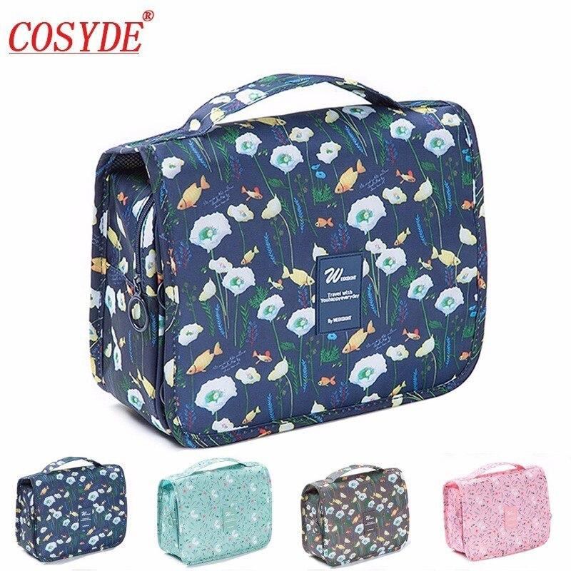 Cosyde 2018 New Ladies Cosmetic Bag Hanging Wash Bags Color Flamingo Pattern Make Up Toiletry Bathroom Bag MakeUp Bag Organizer