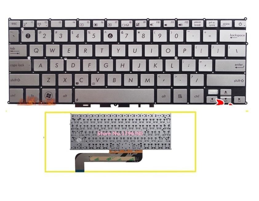 SSEA nuevo teclado estadounidense para ASUS UX21 UX21E UX21A Ultrabook teclado sin marco envío gratis