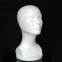 Weibliche Styropor Hut Gläser Haar Perücke Mannequin Stehen Display Kopf Modell Brust Weiß Schaum Weibliche Modell Kopf mit Büste