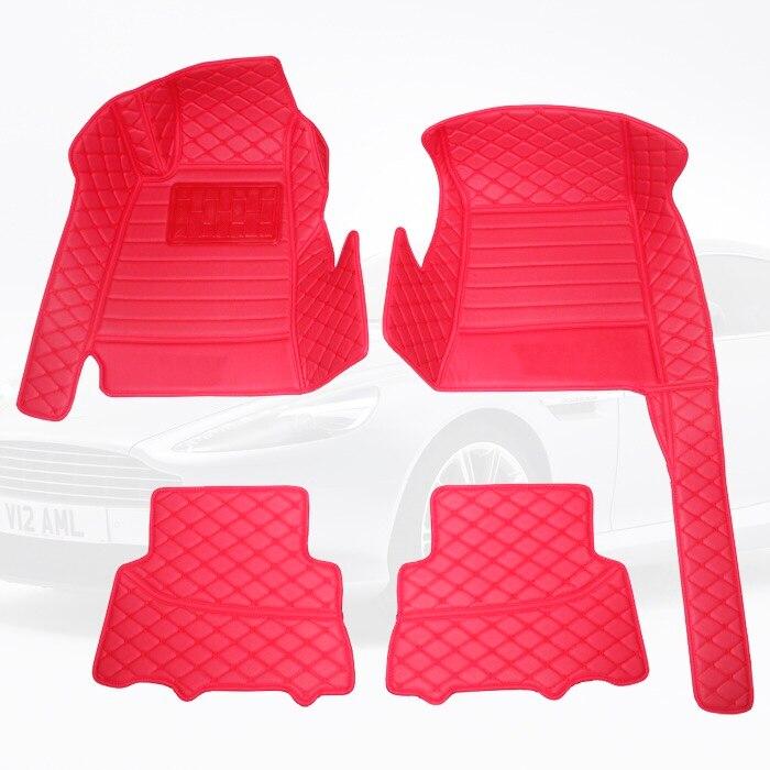Leather Car floor mat carpet rug for AstonMartin DB9 DB11 Rapide Vantage N400 N420 N430 roadster