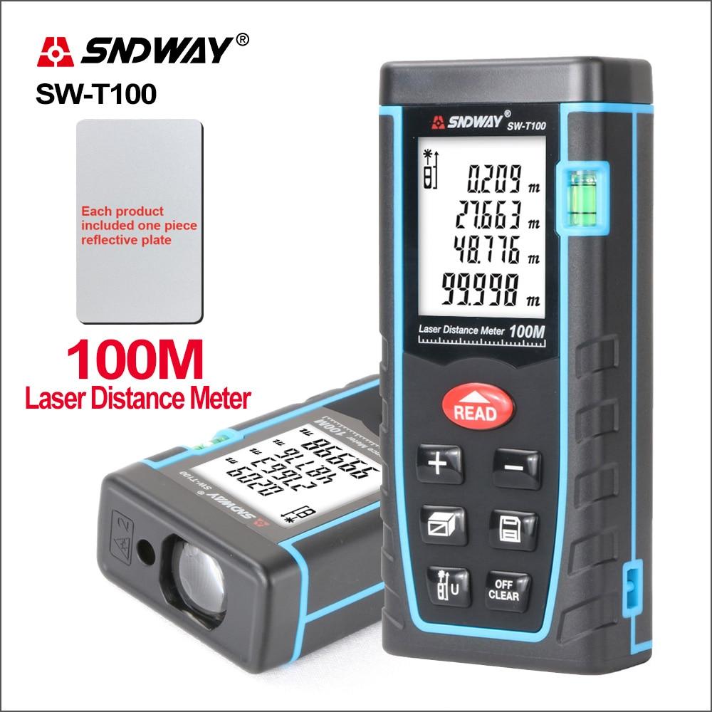SNDWAY الليزر Rangefinder عداد المسافة المدى Mesurment أداة جهاز مكتشف البسيطة الرقمية Meater الليزر المسافة الاستشعار SW-T100