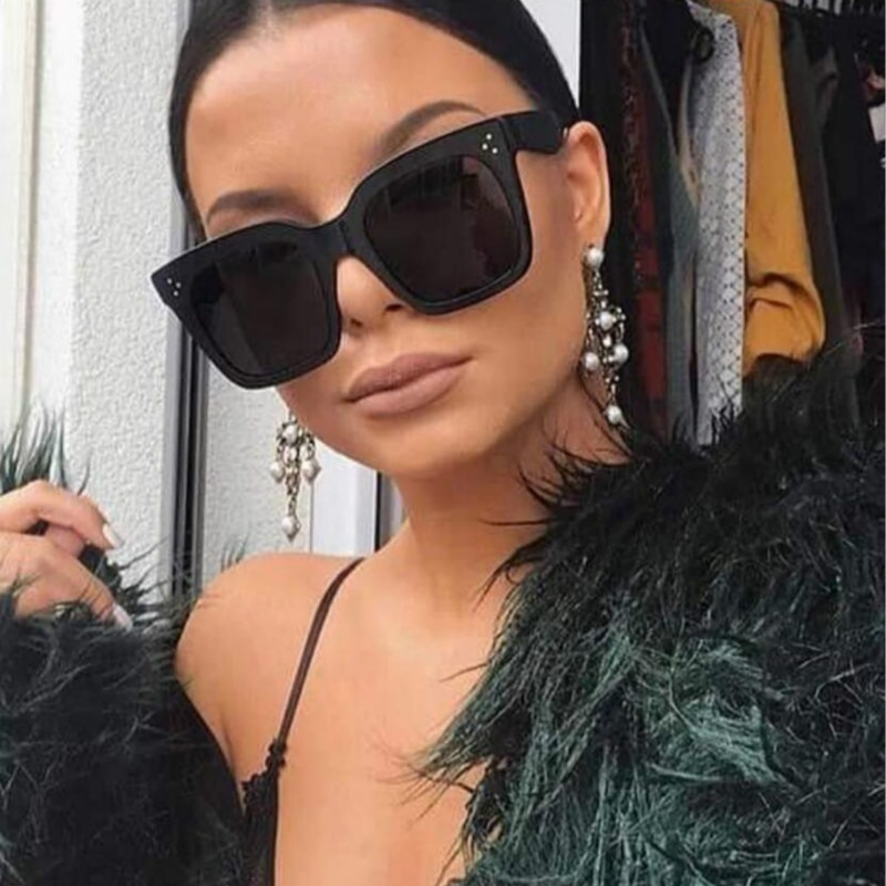 Fashion Oversized Square Sunglasses Women Men Brand Designer Retro Frame Sun Glasses For Female oculos gafas de sol mujer UV400