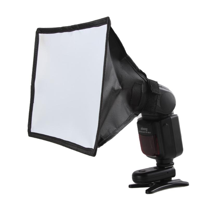 Difusor de flash universal de 15*17cm Softbox reflector plateado Mini difusor de foto profesional caja de luz suave para Canon Nikon Sony