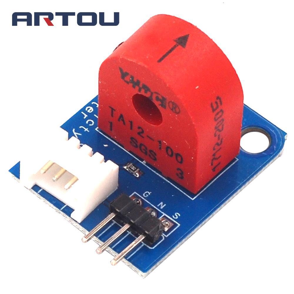 Medidor de electricidad (analógico) transformador de corriente del Sensor de corriente CA 5A para Arduino