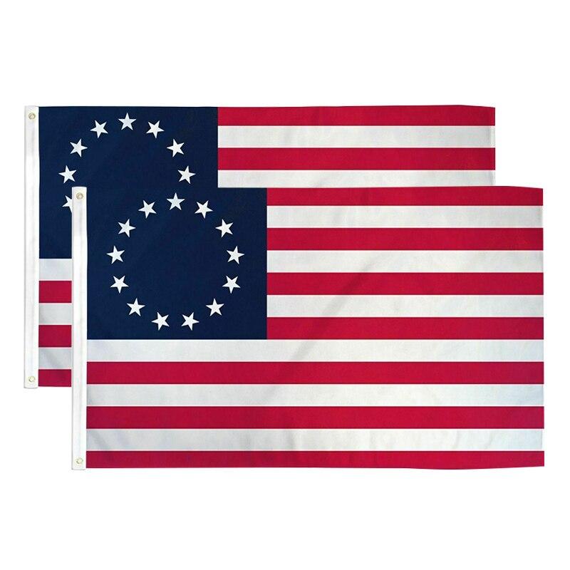 Горячая Бетси Росс 13 Звезда США Американский 3x5 футов флаг 90x150 см с латунными люверсами американский флаг 13 звезд lgbt флаг Полюс