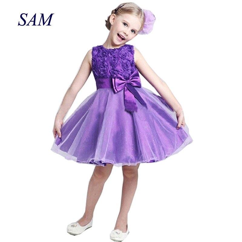 Vestido de princesa de flores para niña, tutú de verano, vestidos de fiesta de cumpleaños de boda para niñas, disfraz para niñas, diseños de graduación para adolescentes