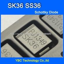 100 pièces/lot SK36 SS36 SMC 3A/60V Schottky Diode