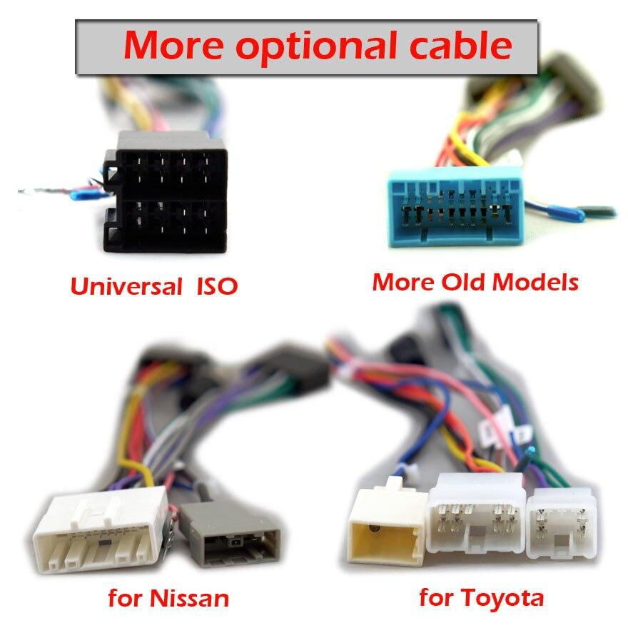 Cable de radio Android para coche 2 Din para Volkswagen Nissan Toyota Honda Hyundai Kia Peugeot y otro adaptador de enchufe cables viejo