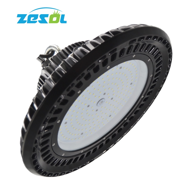 ZESOL LED Highbay light UFO 160 Вт Водонепроницаемый IP65 220 В 277 В 110 в цех склад с использованием промышленного света