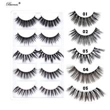 1500 pairs(300packs) false eyelashes mixed packing 3D lashes hand made full stripfaux mink 3d eye lash customize logo eyelash