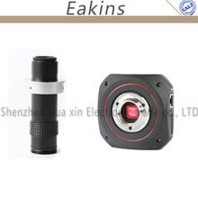 1080 P HDMI USB Intelligence industrielle Microscope numérique caméra loupe vidéo calibrage caméra mesure + 120X c-moun lentille