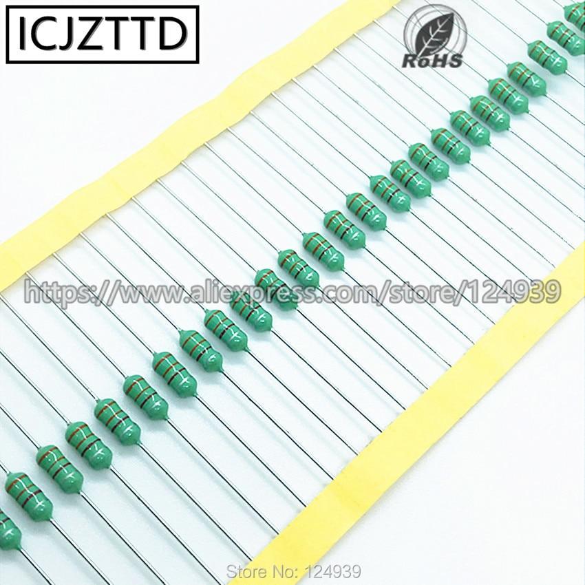 20 piezas 0410 inductores 390UH 470UH 560UH 680UH 820UH 1MH 2.2MH 3.3MH 4.7MH 1/2W 0,5 W inductancia anillo de color inductor de potencia circular