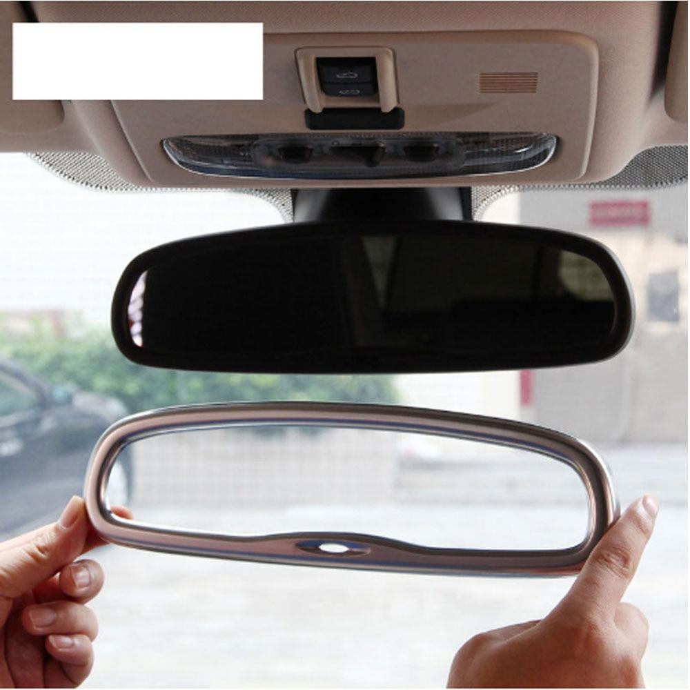For Landrover Freelander 2 2008-2015 ABS Chrome Car Interior Rearview Mirror Cover Frame Trim Sticker Car Accessories