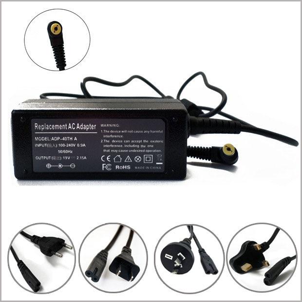 19V 2.15A 40W AC cargador de batería Adaptador + cable cargador de...