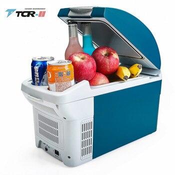 TTCR-II Portable Cooler 6L Mini Fridge DC12V Car Refrigerator Student Dormitory Cooling Box Touch Freezer Silent auto fridge