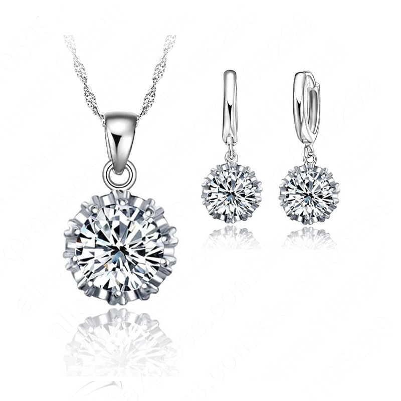 Best Newest Design Jewelry Sets 925 Sterling Silver Fashion Wedding Jewelrys Earrings Pendant Neckla