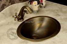 Lavabo à la mode   Lavabo en Bronze, évier en cuivre fait à la main, lavabo en Bronze Antique, lavabo de comptoir en laiton, vente en gros, livraison gratuite