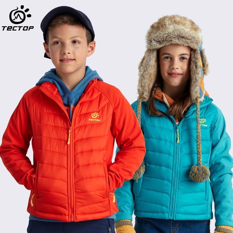 Tectop niño párrafo algodón acolchado abrigo a prueba de viento térmico Delgado niño mantener caliente algodón acolchado abrigo deportes al aire libre chaqueta